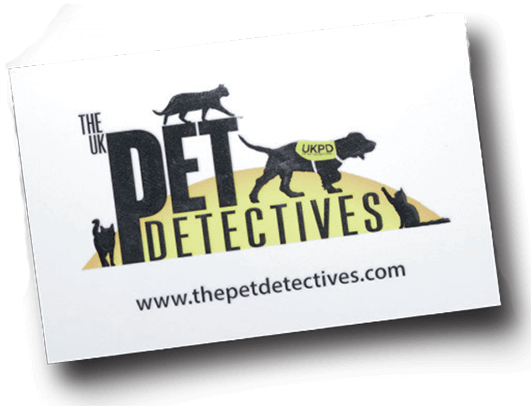 The Pet Detectives business card